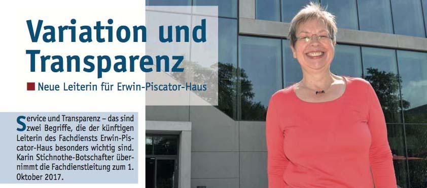 Erwin-Piscator-Haus in Marburg unter neuer Leitung