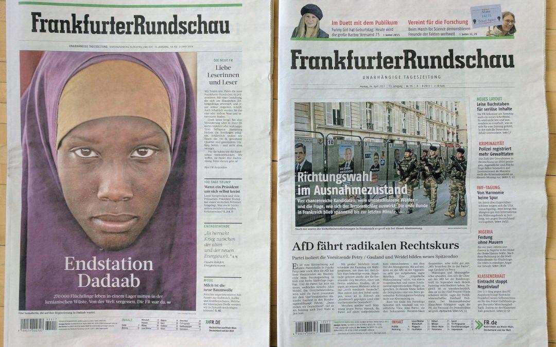 Ein Zeitung gibt sich ein neues Gesicht